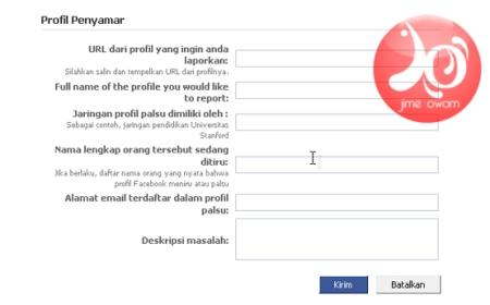 Kotak Dialog Pelaporan Plagiat