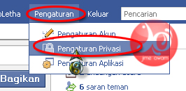 pengaturan status pasangan facebook