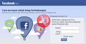 tampilan facebook lite