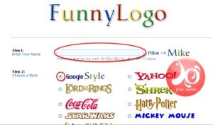tampilan funny logo